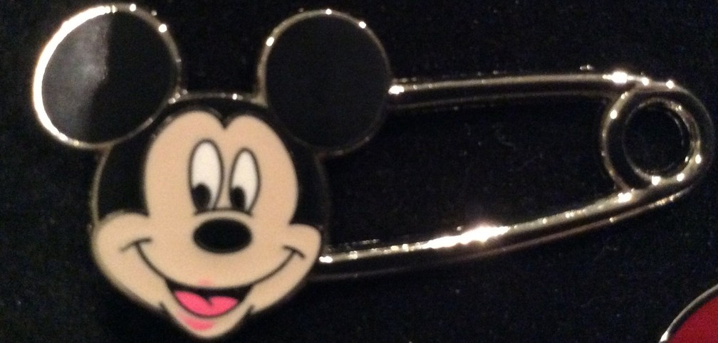 Mickey safety pin