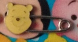 Winnie the Pooh safety pin