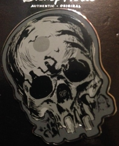 Hitch Hiking Ghost Skull Pin