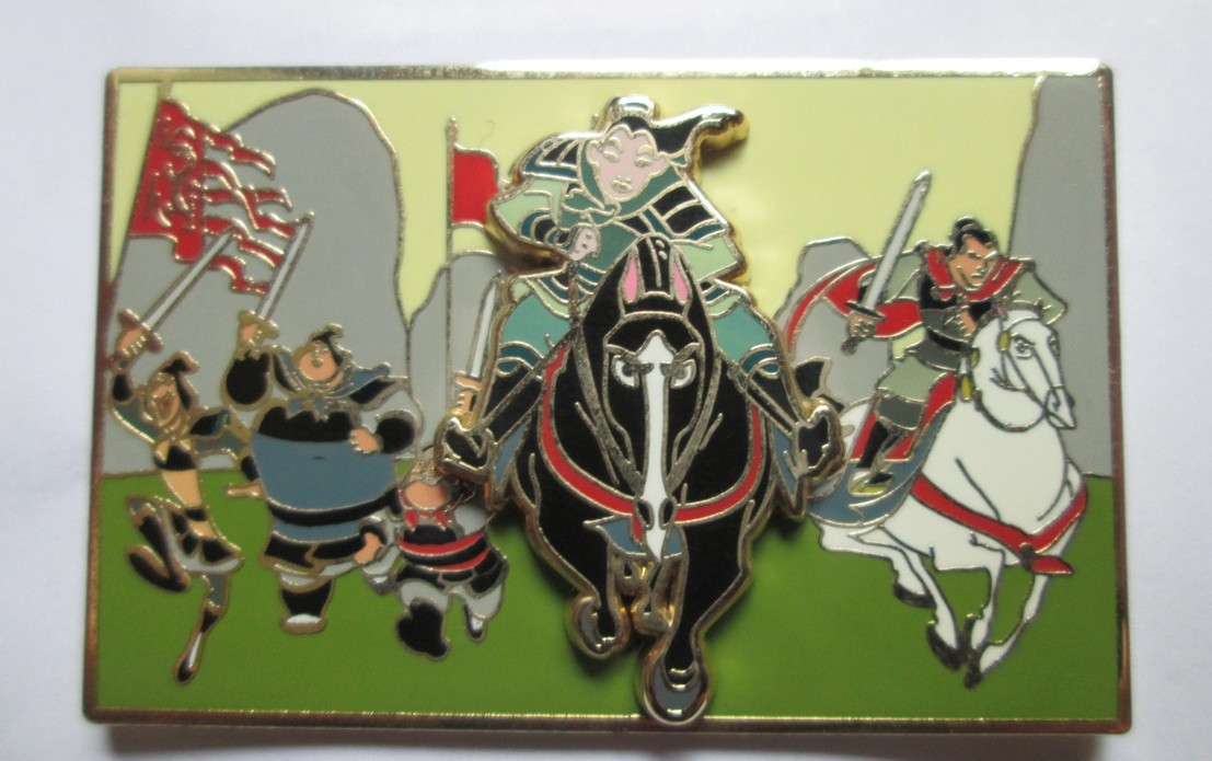 Mulan Riding with Soldiers