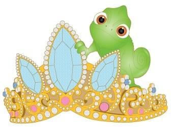 Pascal with Rapunzel's Tiara