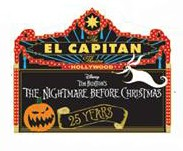 Nightmare Before Christmas 25th Anniversary Marquee
