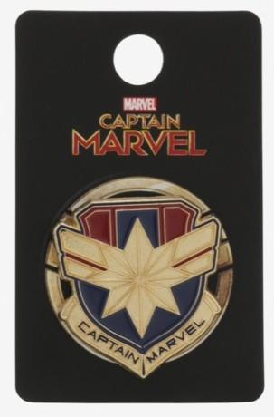 Captain Marvel Shield Pin