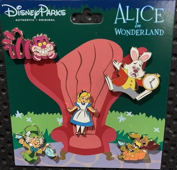 Alice in Wonderland Booster Pack (5 pins)
