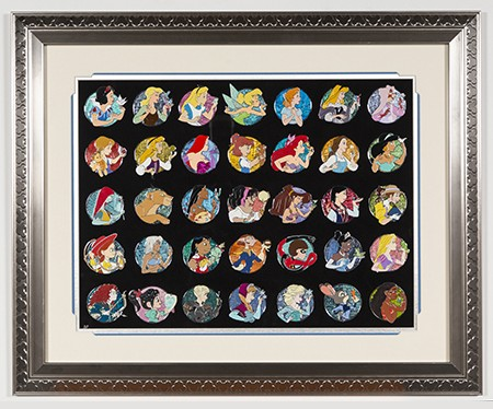Heroine Profile Artist Proof Framed Pin Set 35 pins