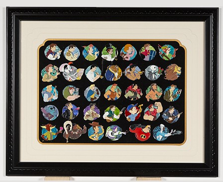 Heroes Profiles Artist Proof Framed Pin Set 35 pins
