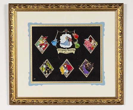 Sleeping Beauty 60th Anniversary Artist Proof Framed Pin Set