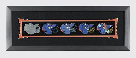 Fred Pin Progression Artist Proof Framed Pin Set