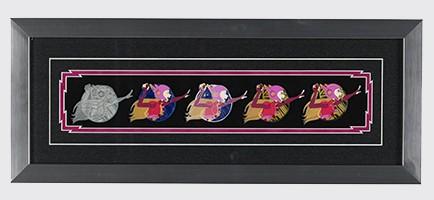 Honey Lemon Pin Progression Artist Proof Framed Pin Set