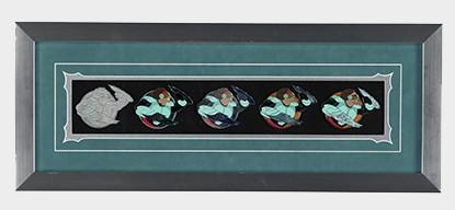 Wasabi Pin Progression Artist Proof Framed Pin Set