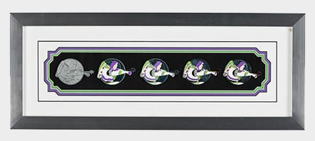 Buzz Lightyear Pin Progression Artist Proof Framed Pin Set