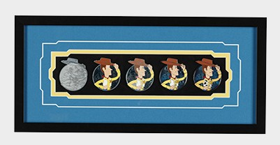 Woody Pin Progression Artist Proof Framed Pin Set