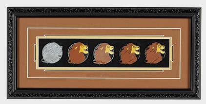 Simba Pin Progression Artist Proof Framed Pin Set
