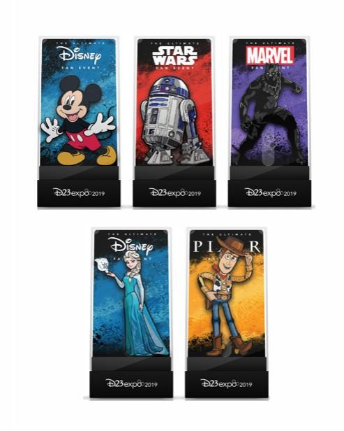 Mickey, R2 D2, Black Panther, Elsa and Woody