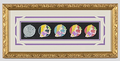 Rapunzel Pin Progression Artist Proof Framed Pin Set