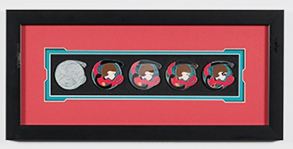 Mrs. Incredible Pin Progression Artist Proof Framed Pin Set