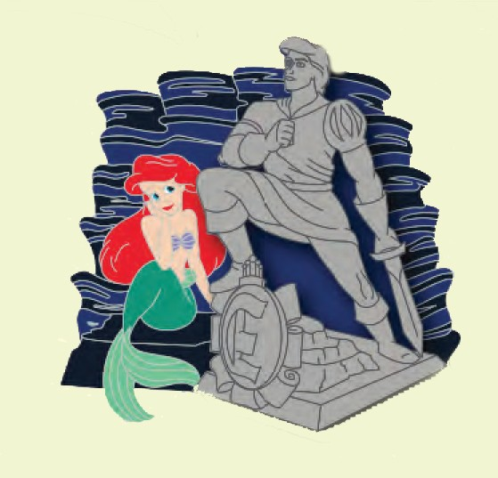 Ariel with Prince Eric Statute Annual Passholder Exclusive