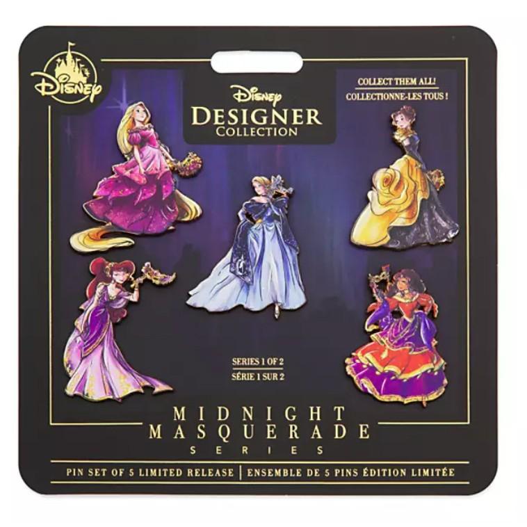 Disney Designer Collection Midnight Masquerade Pin Set Series 1
