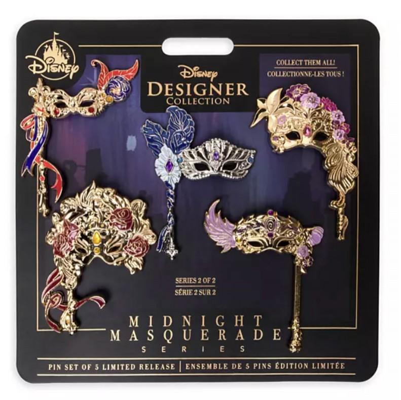 Disney Designer Collection Midnight Masquerade Pin Set Series 2