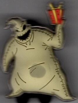 Oogie Boogie holding a present box