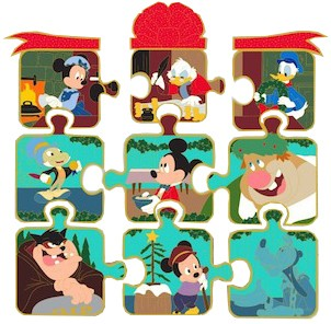 Christmas Carol Puzzle Mystery Set of 12 pins