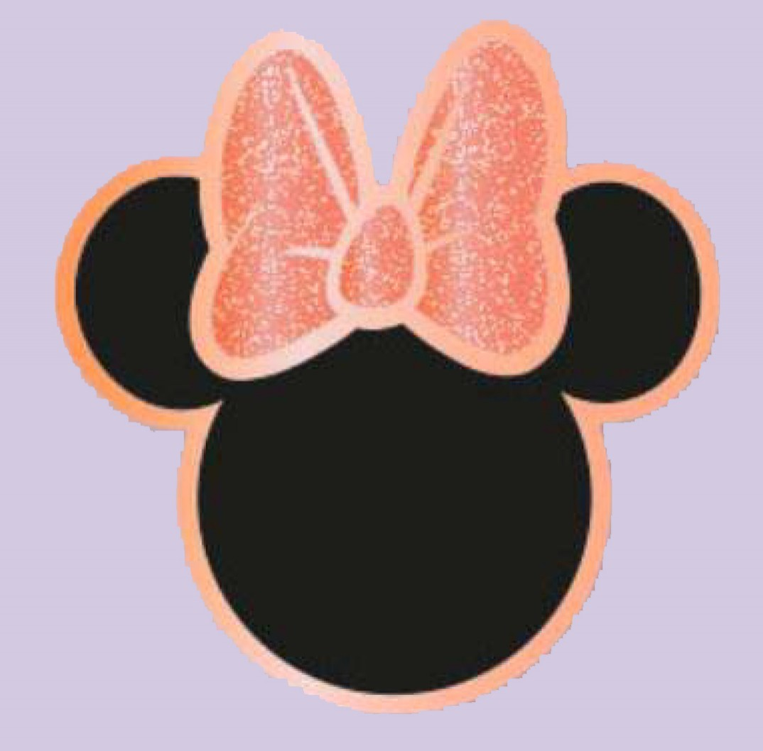 Minnie Mouse Icon with Pink Bow