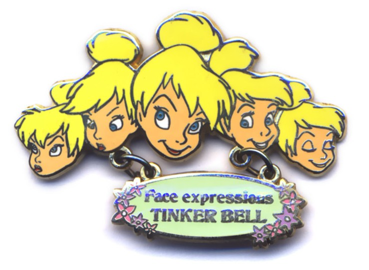 Tinker Bell Face Expressions Dangle