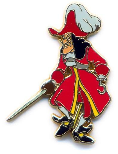 Captain Hook Walking With His Sword