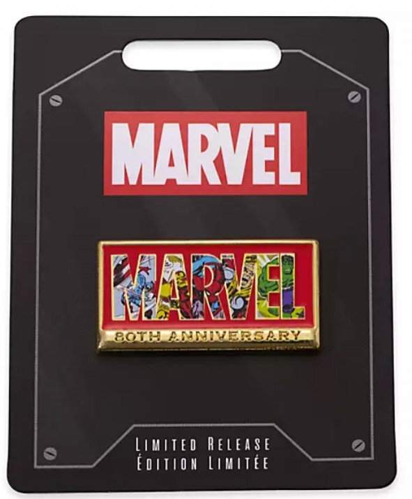 Marvel 80th Anniversary Logo Pin