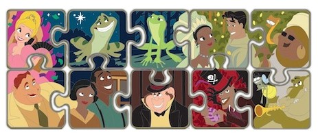 Princess and the Frog Puzzle Mystery Set