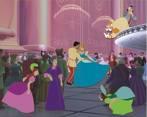 Cinderella, Prince Charming, Lady Tremaine, Anastasia, Drizella and the King