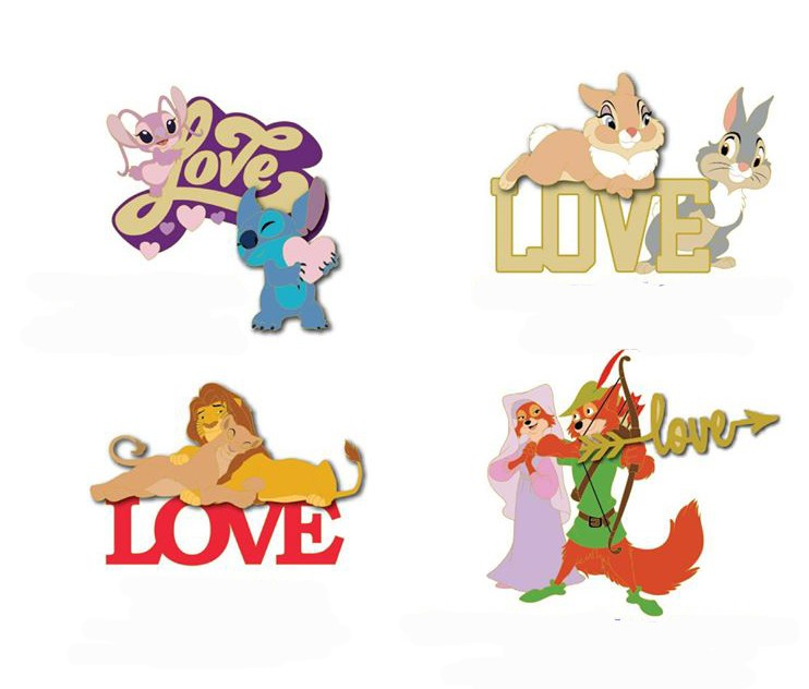 Angel and Stitch, Thumper and Miss Bunny, Simba and Nala, Robin and Maid Marion