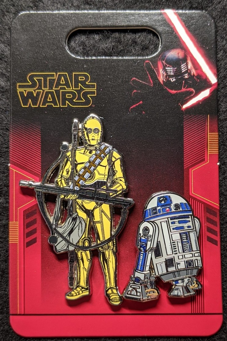 R2-D2 and C-3PO 2 pin set