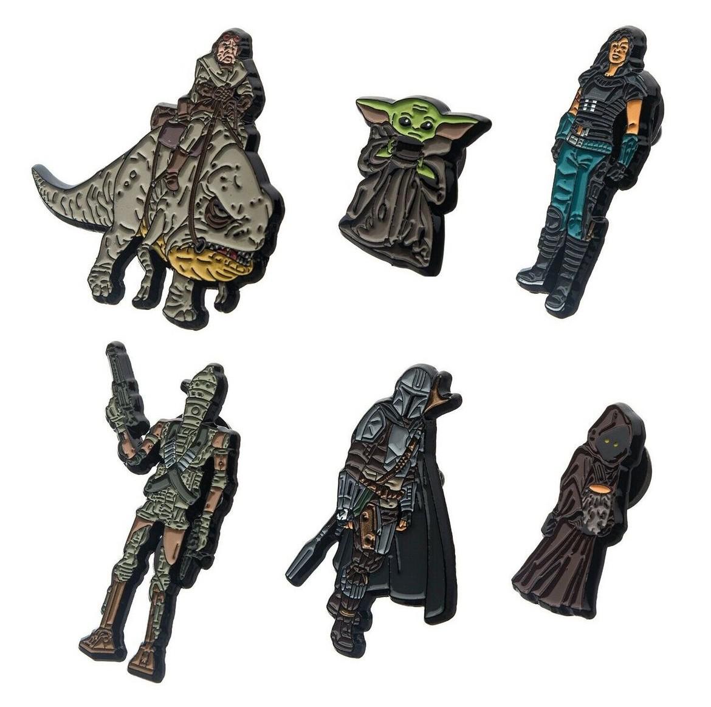 Mandalorian, IG-11, a Jawa, Cara Dune, Kuiil Riding a Blurrg, and The Child
