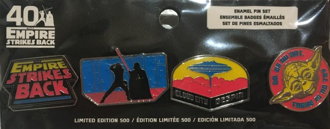 Star Wars: The Empire Strikes Back 40th Anniversary Pin Set