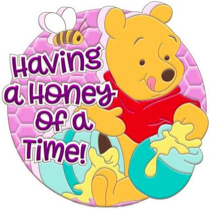 Winnie the Pooh Having a Honey of a Time